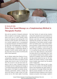 Peter Hess Sound Massage as a Complementary Method in Therapeutic Practice
